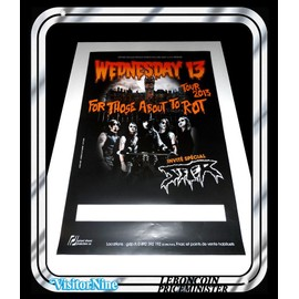 Affiche / Poster - Wednesday 13 - For Those About To Rot Tour (60x40 Cm)