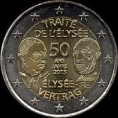 Piece 2 Euros Traite De L Elysee 2013 Pas Cher Ou D Occasion Sur Rakuten