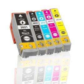 Lot De 5 Cartouches D'encre Compatible Pour T 2621, T 2631, T 2632, T 2633, T 2634 Directement Applicable - Epson Expression Premium Xp600, Xp605, Xp700, Xp800