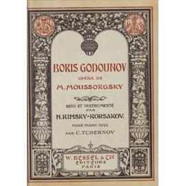 BORIS GODOUNOV, Opéra revu et instrumenté par Rimsky-Korsakov