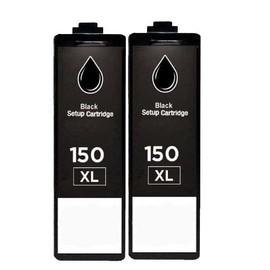 Premium 2 X Compatible Pour Lexmark 150xl Noir Sup�rieure Qualit� Cartouches Lexmark Interpret S415 Intuition S515 Pro 715 Pro 910 Pro 915