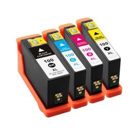 4x Cartouches D'encres Compatible Pour Lexmark Multipack 100xl 100 Xl Bk/C/M/Y - Pour Lexmark Impact S305, Interact 605, Interpret S405, Intuition S505, Pro905, Pro805, Pro705, Prospect Pro205