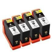 4x Cartouches D'encres Compatible Pour Lexmark Multipack 100xl 100 Xl Noir - Pour Lexmark Impact S305, Interact 605, Interpret S405, Intuition S505, Pro905, Pro805, Pro705, Prospect Pro205