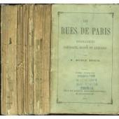 Les Rues De Paris. Biographies, Portraits, Recits Et Legendes. En Trois Tomes. de M. BATHILD BOUNIOL