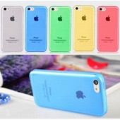 Coque Housse Etui Iphone 5c Mat Transparent