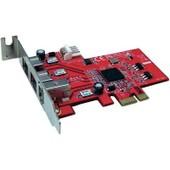 Carte PCI Express FireWire 400/800 3 ports