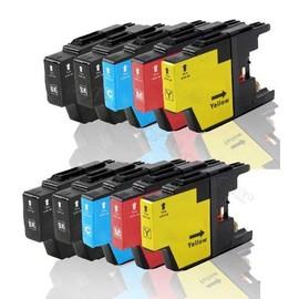 Multipack - 10 Cartouches D'encre Compatible Pour Brother Lc 1280 Lc 1280 Bk/C/M/Y - Brother Mfc-J 6510 Dw Mfc J625 Dw Mfc-J 6710 Dw Mfc-J 6910 Dw Mfc-J 825 Dw Mfcj835 Dw