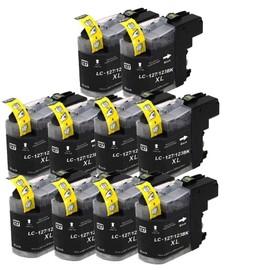 10 X Cartouches D'encres Compatible Pour Brother Lc123 , Lc127 Bk, Dcp J4110 / Mfc J4410 / Mfc J4510 / Mfc J4610dw / Mfc J4710dw