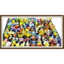 Lot 60 Mini-Figurines Pokemon 2 � 3 Cm