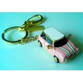 Cl� Usb 8 Go - Austin Mini Cooper - Full M�tal - Bijou Porte-Cl�s - Rose