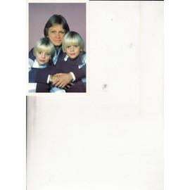 carte postale Claude François et ses enfants