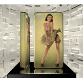 Coque Iphone 4 4s Iph04 051 001 040 Pin Up Vintage Sexy Girl Hard Case