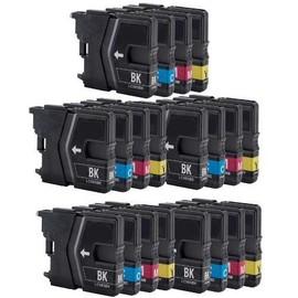 20 X Cartouches D'encres Compatible Pour Brother Lc985 , Lc 985 Lc39 Dcp-J125 Dcp-J140w Dcp-J315 Dcp-J315w Dcp-J515w (Bk/C/M/Y)