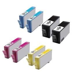 8 X Cartouches D'encres Compatible Pour Hp 920 Xl 920xl Hp Officejet 6500,Hp Officejet 6500 Wireless,Hp Officejet 6000,Hp Officejet 6000 Wireless Officejet 6000 Special Edition (Bk/C/M/Y)