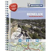 Benelux & North Of France / Benelux & France Nord - Tourist & Motoring Atlas (A4-Spirale) de Michelin