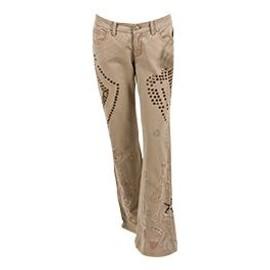 Two Ten Ten Five Jeans Bootcut Femme Beige