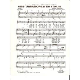 DES DIMANCHES EN ITALIE de Serge LAMA