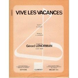 vive les vacances par Gérard Lenorman