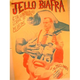 Affiche serigraphie JELLO BIAFRA deads kennedys