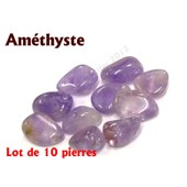 Am�thyste - Lot De 10 Pierres Roul�es