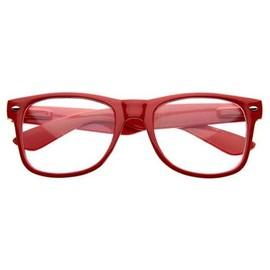 Lunettes Monture Style 80's Vintage - Verres Blancs / Neutres / Transparents - Mixte Pour Homme & Femme - Nouveau !!!