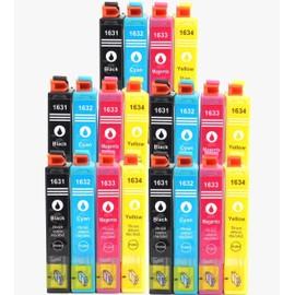 5 Set - Cartouches D'encres Compatible Pour (T1636 Xl) T1631xl 1632xl 1633xl 1634xl Avec Puce , Epson Workforce Wf2010 W, Wf2510 Wf, Wf2520 Nf, Wf2530 Wf, Wf2540 Wf (Bk,C,Y,M)