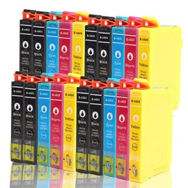 20x Cartouches D'encres Compatible Pour (T1626 Xl) T1621xl 1622xl 1623xl 1624xl 24xl Avec Puce , Epson Workforce Wf 2010w Wf 2510wf Wf 2520nf Wf 2530wf Wf 2540wf (Bk,C,Y,M)