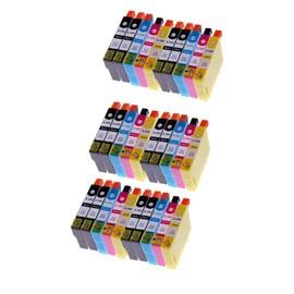 Merotoner� - 30 X Epson Compatible Cartouches D'encre Avec Puce Pour Epson (T1295) T1291 Noir , T1292 Cyan , T1293 Magenta , T1294 Jaune