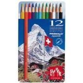 Caran D'ache Crayons De Couleur Prismalo En Etui M�tal De 12