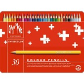 Caran D'ache Crayons De Couleur Swisscolor, �tui M�tal De 30
