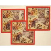 Lot 3 Serviettes Papier Corrida Espagne Affiche Torero Taureau