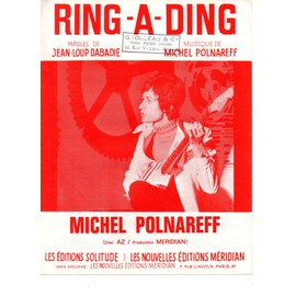 Ring-a-ding - partition Michel Polnareff / Jean-Loup Dabadie