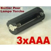 Boitier Support Coupleur 3 Piles AAA (4.8V 4.5V ou 3.6V) Pour Lampe Torche