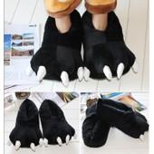 Chaussons Pantoufles Chaussures Kigurumi Pyjama Panda Noir Patte Griffe D�guisement Cosplay Adulte