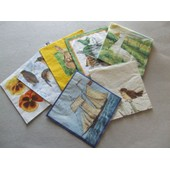 Serviettes Papier 33x33cm Pour Collage Serviettes Lot De 7 Assorties