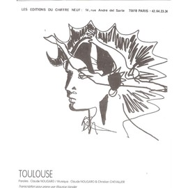 TOULOUSE Chant/piano et accords (feuillet) [Partition] by Claude NOUGARO