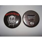 Magnet Aimant Frigo Decapsuleur Motorhead Logo