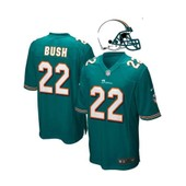 Maillot Foot Am�ricain Nfl Us Dolphins 22 Bush