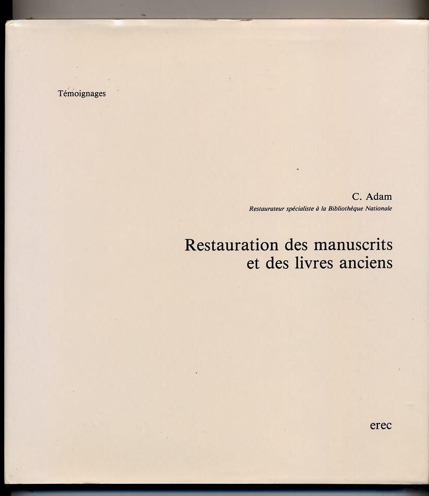 Restauration des manuscrits et des livres anciens