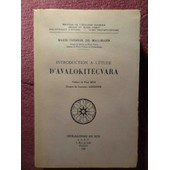 Introduction A L'etude D'avalokitecvara de MARIE-THERESE DE MALLMANN