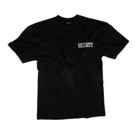 Tee Shirt Noir Col Rond Manches Courtes Imprime Security Devant Et Derriere Miltec 12062102 Airsoft