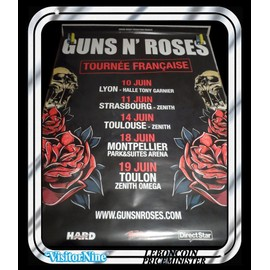 Affiche / Poster - Guns N' Roses - Tour 2012 (Geffen Records)