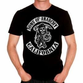 T-Shirt Sons Of Anarchy - Tee Shirt Homme Noir