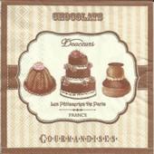 Lot De 2 Serviettes D�co Papier: Chocolats, Gourmandises