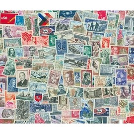 Lot de 100 timbres de Fra