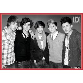 Poster encadré: One Direction - Forever Young (61x91 cm), Cadre Plastique, Rouge