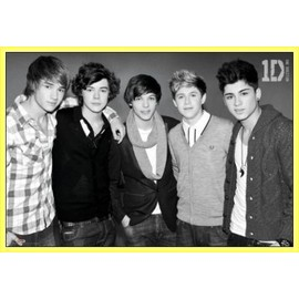 Poster encadré: One Direction - Forever Young (61x91 cm), Cadre Plastique, Jaune