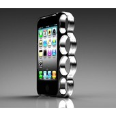 Coque Pour Iphone 5 - Forme Poing Am�ricain - Chrome -