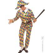 Costume D'arlequin En Satin Taille : L