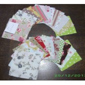 Lot 25 Coupon Tissus 10x10---N�39